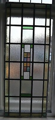 Art deco stained glass leaded light window panel. R678b. WORLDWIDE DELIVERY!