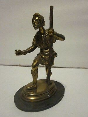 Vintage Bronze Or Brass Statue Figure Appear To Be Little John From Robin Hood