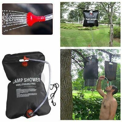 New 20L Solar Power Shower Camping Water Portable Sun Compact Heated Outdoor