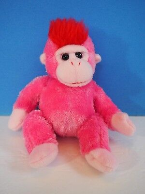 """Ty Beanie Baby """"Charmer"""", Pink Monkey 6 Inches"""