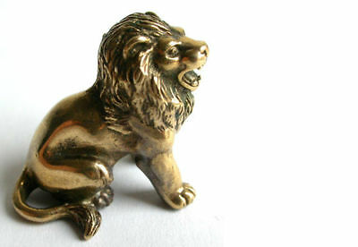 Small Solid Bronze Lion miniature by N.Fedosov.
