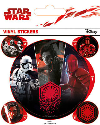 Star Wars The Last Jedi (First Order) - VINYL STICKERS 5 PACK BY PYRAMID PS7354