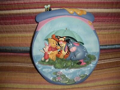 """Bradford Exchange """"it's Just A Small Pc. Of Weather"""" Pooh's Honey Pot 3D Plate"""