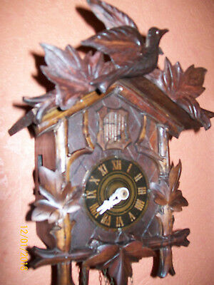Antique working Black Forest Wall Mounted Medium Cuckoo Clock/made in Germany