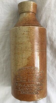 VTG J Bourne & Son Vitreous Stone Ink Bottle P & J Arnold London England Denby