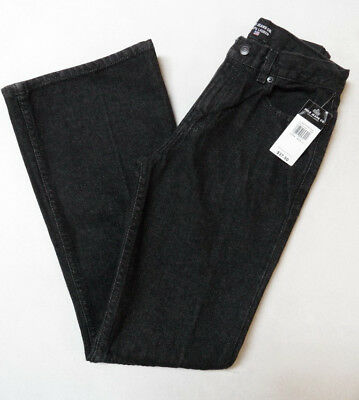 POLO JEANS Co. Ralph Lauren Flare Leg Black Denim Pants GIRLS Size 14 NWT $37.50