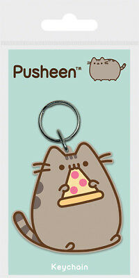 Pusheen (Pizza) RUBBER KEYRING /KEYCHAIN BY PYRAMID RK38768