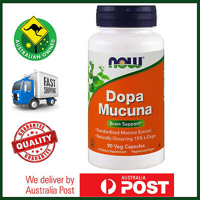 Dopa Mucuna 90 Veg Capsules by NOW Foods - Dopamine, Mood Support - FAST SHIP