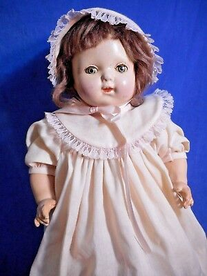 Antique Vintage 1920s Composition Doll Acme Toy Lg Character Girl Ps Lovey DM84