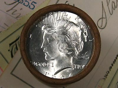 $20 SILVER DOLLAR ROLL 1924 and D-Mint PEACE DOLLAR ENDS