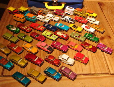 48 matchbox cars,trucks/superfast series from 60-70`s.come in vintage cary case.