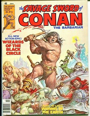 The Savage Sword of Conan #16 (Dec 1976, Marvel) Barry Smith art