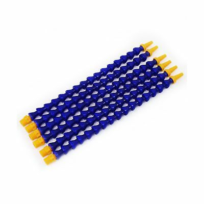 Plastic Flexible Water Oil Coolant Pipe Hose 6Pcs Blue 30cm NEW