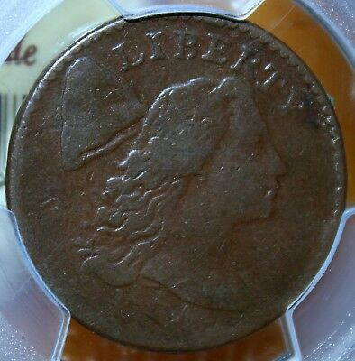 "~☆WOW☆~ VG-08 1794 Flowing Hair Large Cent ""Head of 1974"" PCGS CHEAPEST on EBAY!"