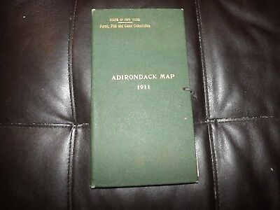 Original 1911 New York Adirondack Forest Maps FOREST FISH GAME COMMISSION BOOK