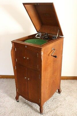 ANTIQUE 1900's VICTOR VICTROLA RECORD PLAYER TALKING MACHINE PHONOGRAPH VV-XI
