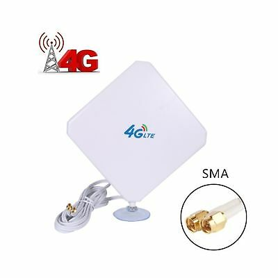 4G LTE Antenna Dual Mimo 35dBi High Gain Network Ethernet Outdoor Antenna... NEW