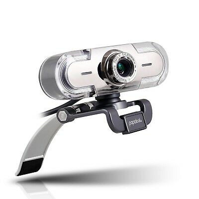 Webcam 1080P, PAPALOOK PA452 Full HD PC Skype Camera, Web Cam with Microp... NEW
