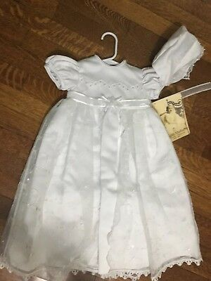 Lauren Madison baby girl Christening Baptism Embroidered Gown