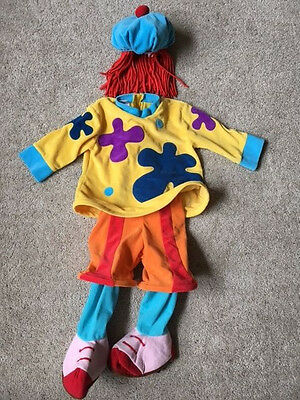 XXS 2-3 Disney Store Jo Jo Clown Circus Town kids Costume 2T 3T dress up play