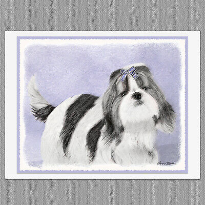 6 Shih Tzu Dog Blank Art Note Greeting Cards
