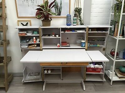 home office in a box. Vintage Foldaway Desk, Home Office In A Box, Craft Cupboard, Storage Cabinet Box