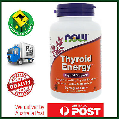 Thyroid Energy by NOW Foods - Healthy Thyroid Function - 90, 180 Caps Available!