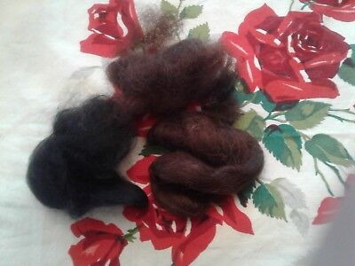 LOT 100 PERCENT REAL MOHAIR for reborn doll. 3 hanks