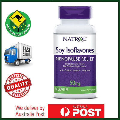 Natrol, Soy Isoflavones, 60 Capsules - Natural Menopause Relief Support