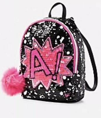NWT Justice Girls Initial C Mini Backpack Sequin ❤️❤️❤️❤️