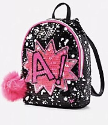 NWT Justice Girls Initial E Mini Backpack Sequin ❤️❤️❤️❤️