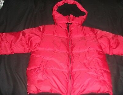 NEXT boys very warm padded coat Fleece lined red age 9-10 hooded