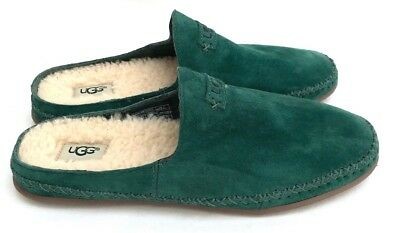 Ugg Women's Tamara Backless Slip on Slippers Green Wool Insole Size 7