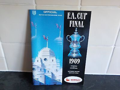 1889 FA Cup Final programme everton v liverpool