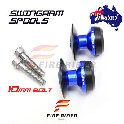 For Kawasaki Ninja 250R 08-12 08 09 10 11 12 10MM CNC Blue Swingarm Spools Kit