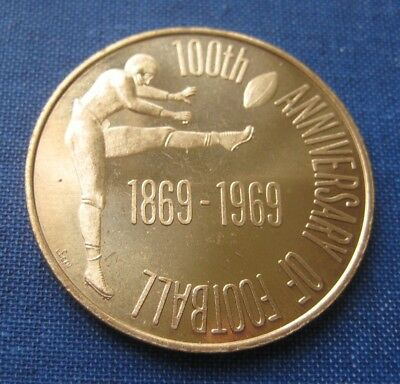 Centennial Of Football 1869 - 1969 Princeton Rutgers Game,  Large Medal, Unc