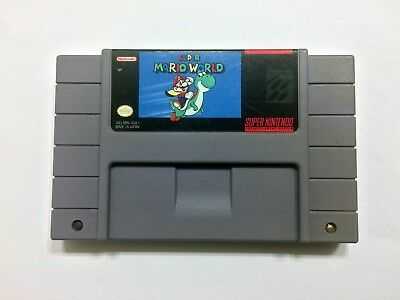 Super Mario World SNES Super Nintendo Fast Shipping! Authentic! Cleaned! Saves!