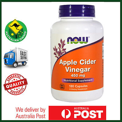 Apple Cider Vinegar, 450 mg 180 Capsules by NOW Foods - AUS STOCK FAST SHIP