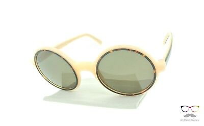 Andy Wolf Sunglasses Renee A Beige / Havana Round Frames / Gold Lenses New