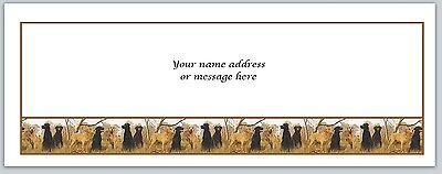 30 Personalized Return Address Labels Hunting Dogs Buy 3 get 1 free (bo542)