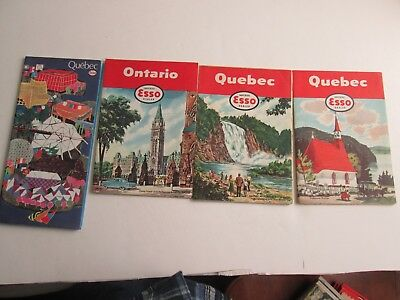 Lot of 9 Vintage Esso Oil Co. U S & Canada Maps.