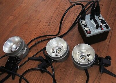 Dynalite M500XL Power Pack with 3 x 1015 Flash heads w/ tubes - Used