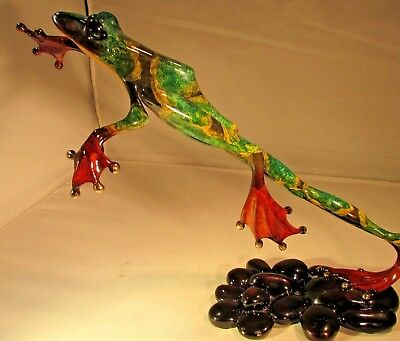 """Sculpture by Tim Cotterill """"Frogman"""" signed and numbered """"Leap Frog"""""""