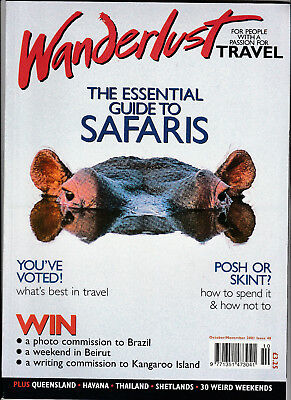WANDERLUST Magazine October/November 2001 - Safaris, Queensland, Havana
