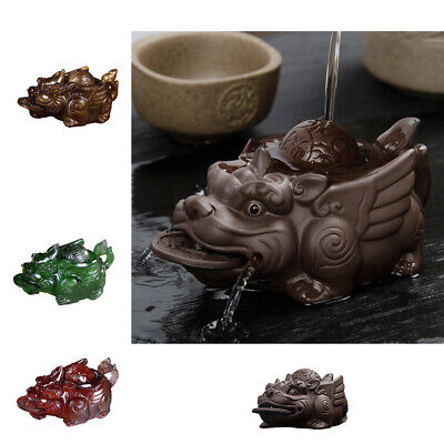 Chinese Kung Fu Tea Pet Tea Ceremony Pi Xiu Home Table Decoration 4 Colors