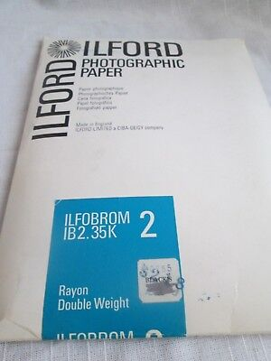 Ilford Photographic Paper- Ilfobrom 2  1B2.35K Vintage