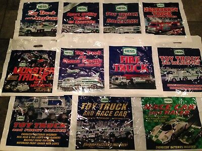 Lot of 11 Hess Collectible Truck bags all different