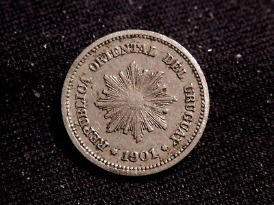 1901 Uruguay 1 Centesimo Xf Buy It Now Or Offer