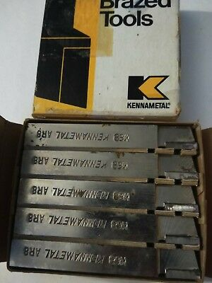 5Pc Lot Of Kennametal Carbide Faced Tool Bits  #ar-8 K-68