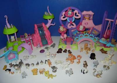 Huge Lot Of Puppy In My Pocket & Other Animals Carnival Playsets Zoo MEG
